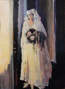 Atlanta Bride 1909, oil by Marcia Chaves, 24in x 17.5in (September 2016)
