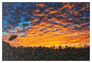 Battlefield Sunset, Digital Photography by Michael Habina - Size 12in x 18in Framed 16in x 20in (November 2016)