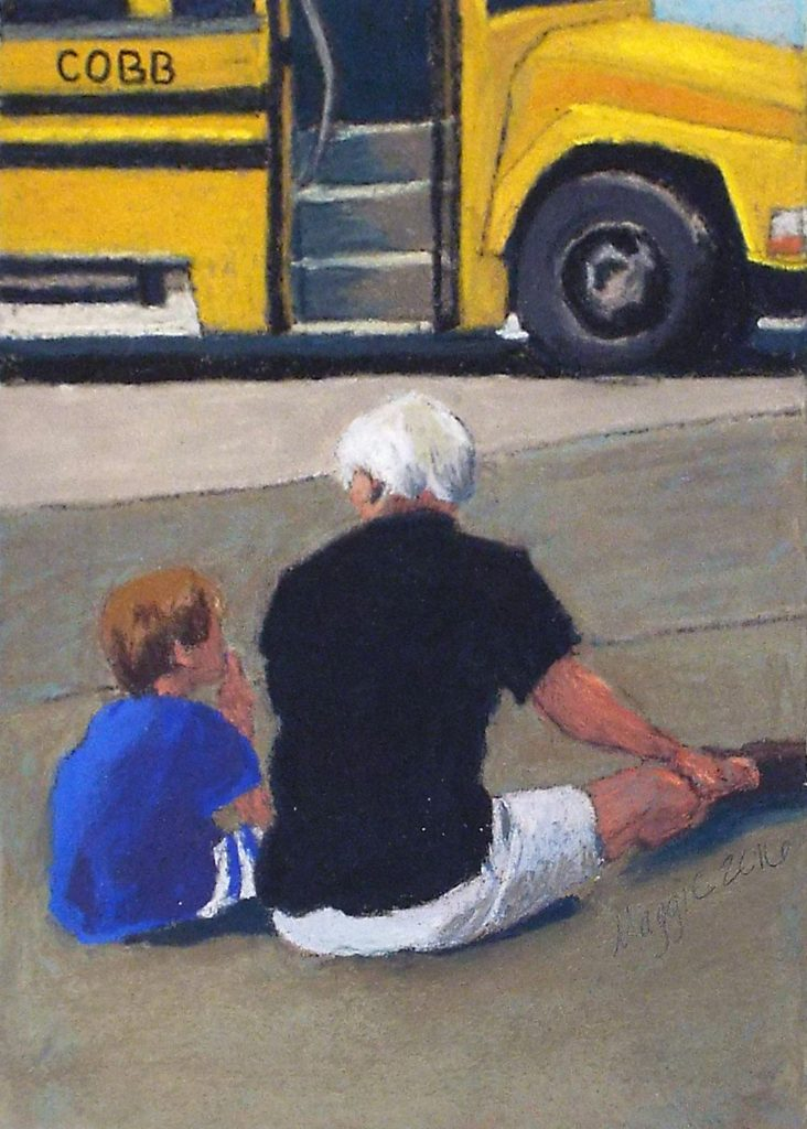 Bebob & Bob, Soft Pastel on Sanded Paper by Maggie Bice - Size 7in x 5in (October 2016)