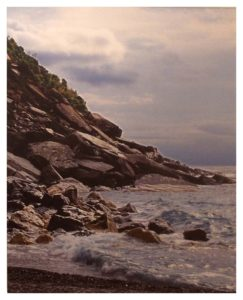Blackrock Beach, Italy, Metallic Photography by Deborah Herndon - Size 20in x 16in (November 2016)