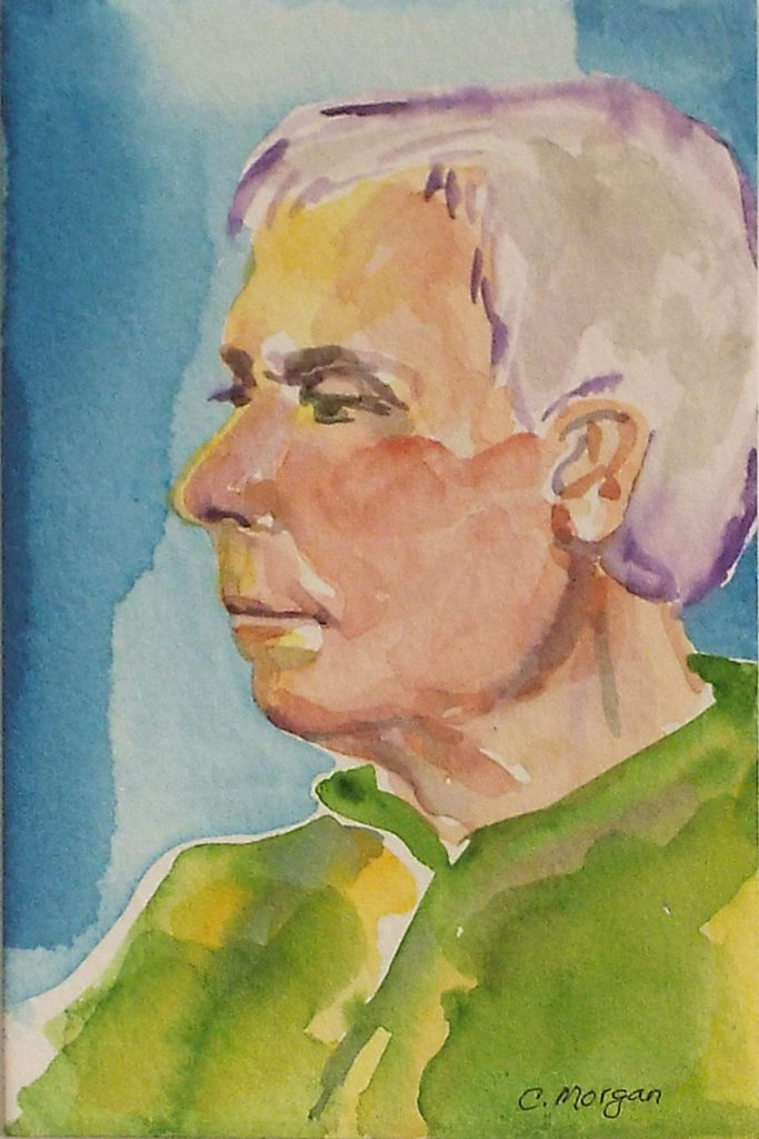 C.B. Model #1, Watercolor by Carrol Morgan - Size 6in x 4in (October 2016)
