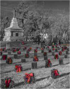 Christmas Day in the Confederate Cemetery, Photograph by David G. Boyd - Size 14in x 11in (February 2017)