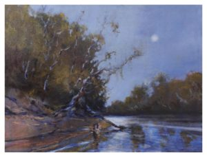 Discovering the Rappahannock, Oil by Marcia Chaves - Size 18in x 24in (November 2016)