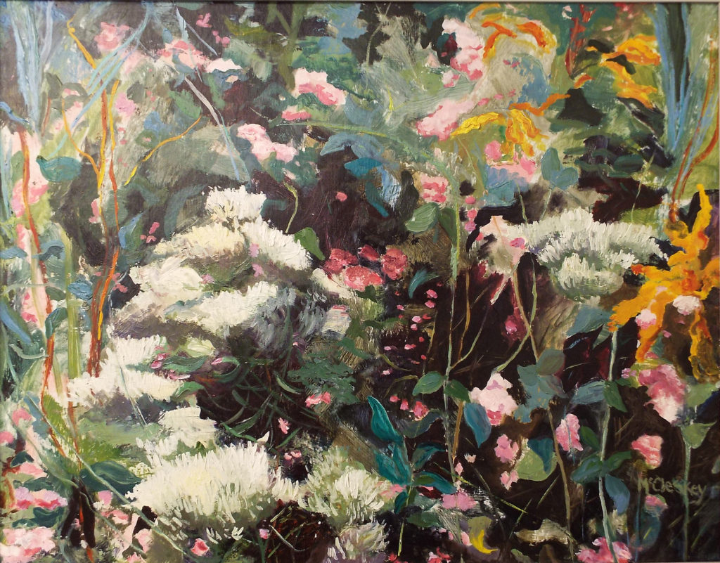 Fantasy Garden, Oil by Dee McCleskey - Size 18in x 23in (October 2016)