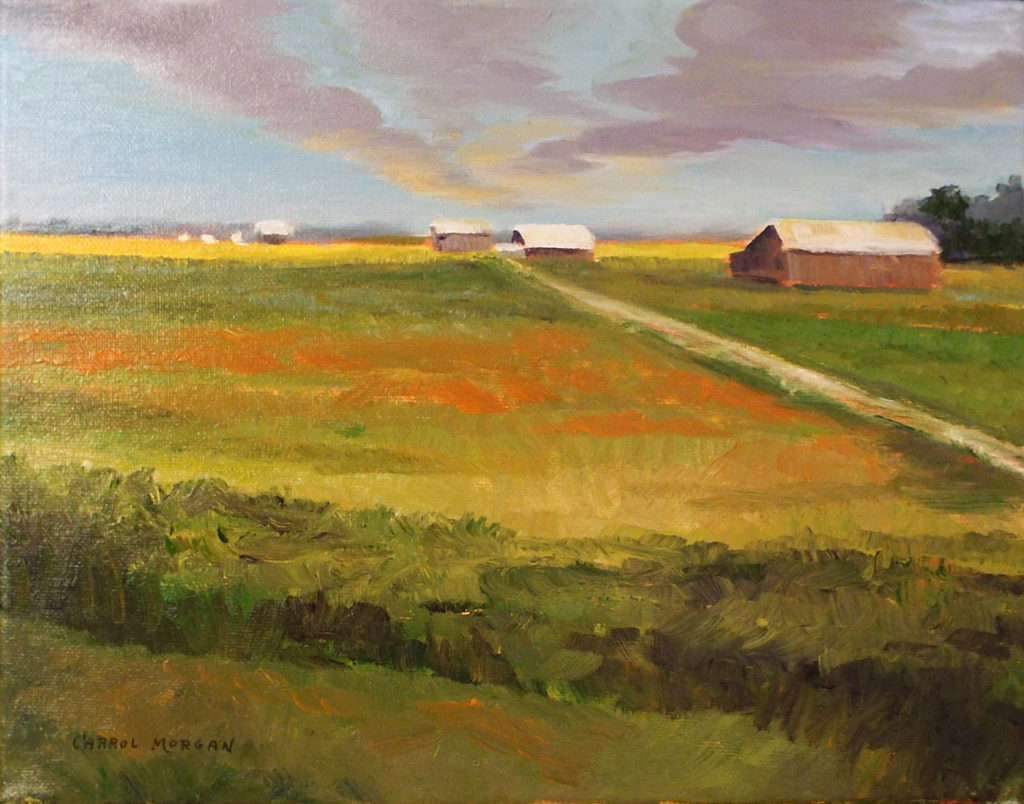 Farm Vista #3, MD, Oil by Carrol Morgan - Size 11in x 14in (October 2016)