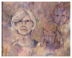 Final Chapter, Mixed Media by Sally Rhone-Kubarek - Size 16in x 20in (November 2016)