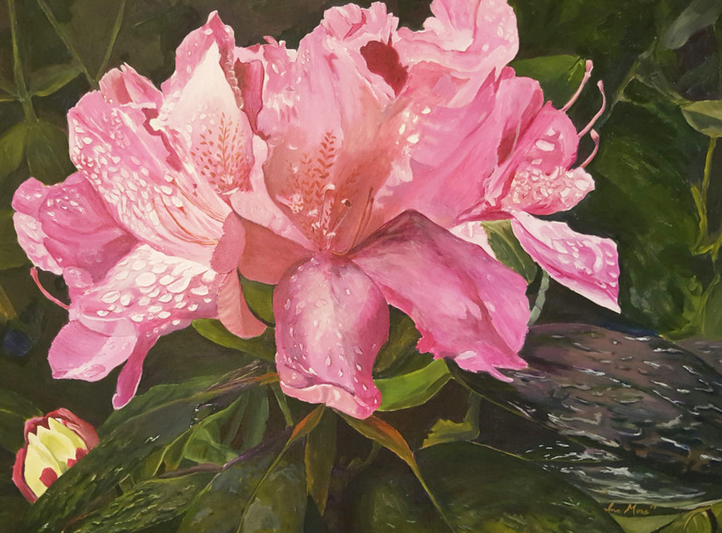 Firehouse Rhododendrom by Ina Moss (Jan-June 2017, CBTC)