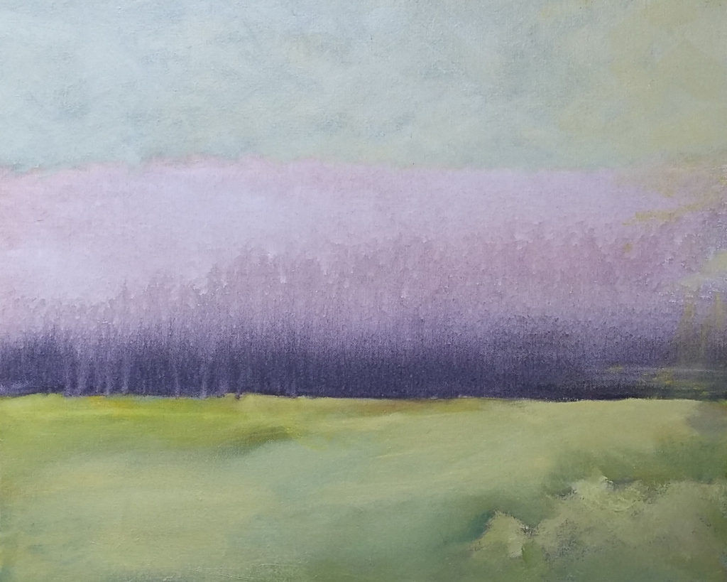 Foggy Morning, Oil on Canvas by Jane Woodworth - Size 24in x 36in (October 2016)