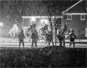 Freedom March through the Snow, Photography by Rebecca Cunningham - Size14in x 11in (February 2017)