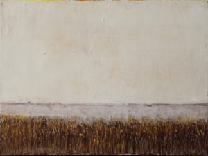 Marsh Reeds, Oil and Cold Wax by Bob Worthy - Size 12in x 16in (May 2017)
