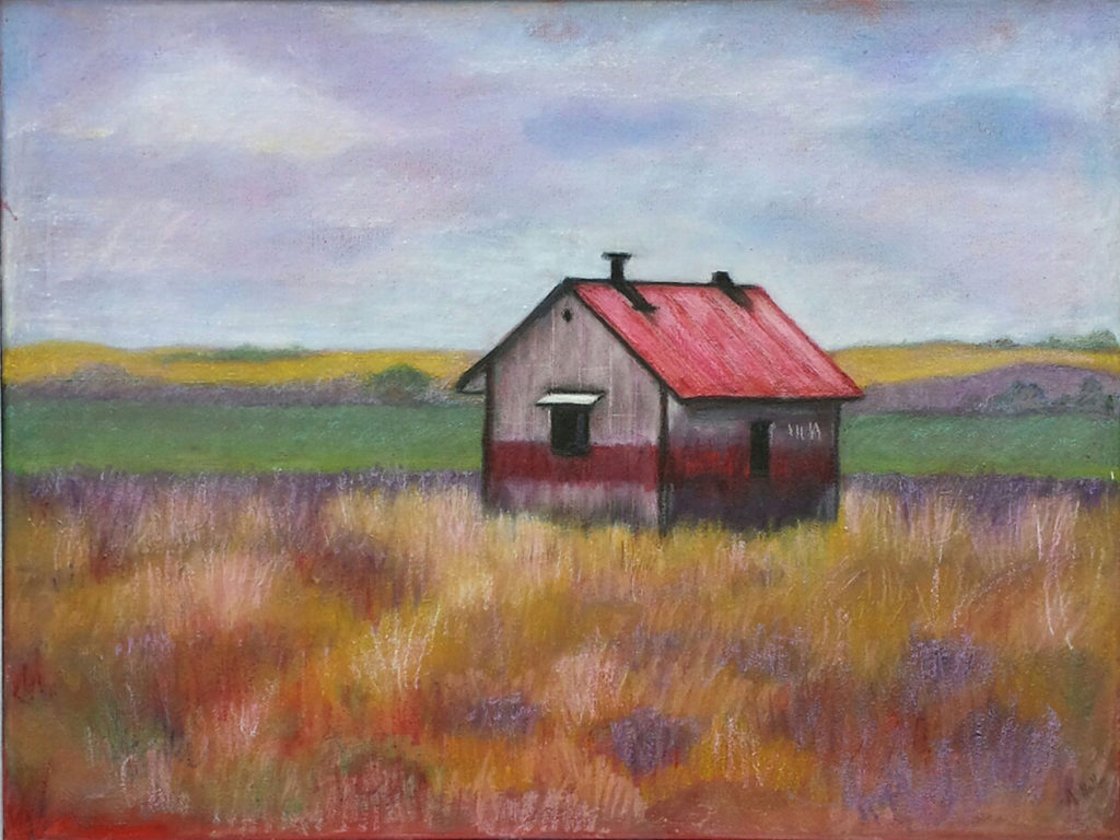 Montana Morning, Oil and Mixed Media by Anita Holle - Size 18in x 24in (October 2016)