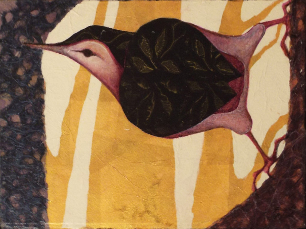 Nuthatch Study, Collage by Robyn Ryan - Size 9in x 12in (October 2016)