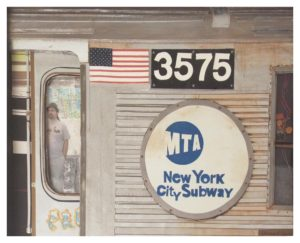 Paul on the Subway, Paper Construction by Katharine K. Owens - Size 16in x 20in (November 2016)