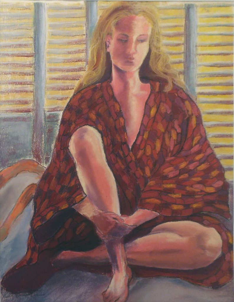 Pensive, Pastel by Helen Butler - Size24.5in x 19in (October 2016)