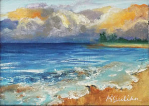 Seaside Postcard, Oil by Karen Julihin - Size 5in x 7in (Dec.2016-Jan.2017)