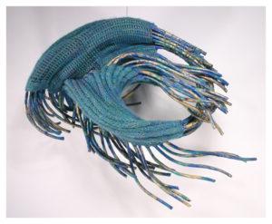 Waiting, Fiber Knit by Passle Helminski - Size 18in x 21in x 14in (November 2016)