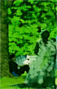 Woman Under Tree, Manipulated Photography by Dorian Hamilton - Size 17in x 11in (March 2017)