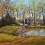 Afternoon in the Woods, Pastel by Kathleen Willingham, Size 20in x 24in (June 2017)