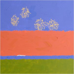Future Tumbleweeds, Acrylic on Canvas by Kay Layne- Size 24in x 24in (August 2016)