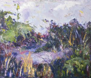Away from the Beach, Oil on Aluminum by Kate Dervin (February 2012)