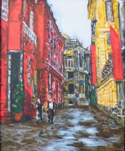 Paris Afternoon, Acrylic by Liana Pivirotto (February 2012)