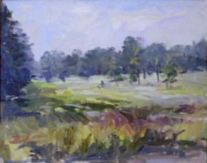 Morning Over Belle Isle Marsh, Oil on Linen by Nancy Brittle (February 2012)