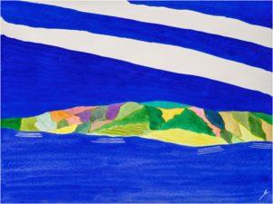 Oahu in Spring, Watercolor by Bro Halff- Size 12in x 16in (July 2016)