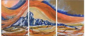 Radiant Energy, Triptych Mixed Media by Rita Rose Apter and Rae Rose Cohen (February 2012)