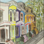 Row Houses, Mixed Media by Stacy Gaglio, Size 22in x 18in (June 2017)