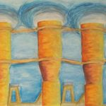 Rubber Band-Powered Turbines, Color pencil, Caran d'arche by David Lovegrove, Size 15in x 22in (June 2016)