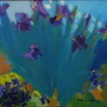 Septet in Violet, Acrylic Painting by Betsy Glassie, Size 20in x24in (June 2016)