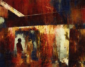 Shop Talk, Archival Giclee Print by Carolyn R. Beever- Size 11in x 14in (July 2016)