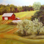 Spring in Jerome, VA., Pastel by Kathleen Willingham, Size 28in x 22in (June 2017)