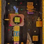 Timeless, Vintage Box Mixed Media Construction by John Nichols, Size 20in x 16in x 8in (June 2016)
