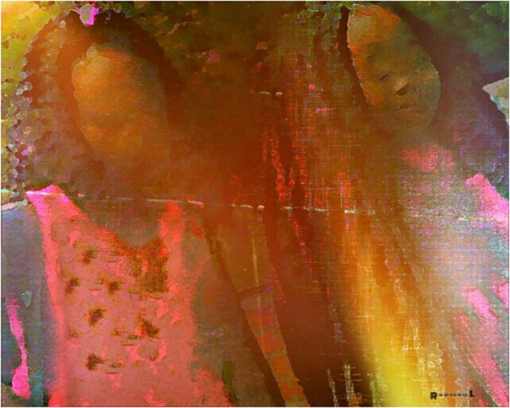 HONORABLE MENTION: Two Little Girls, Photography-Digital Art by Dorian Hamilton - Size 16in x 20in (August 2016)