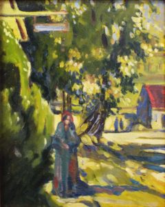 Washington St., Falmouth, Oil by Marcia Chaves - Size 8in x 10in (August 2016)