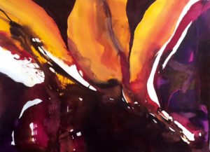 Amber Flow, Acrylic by Barbara Taylor Hall, Size 21in c 29in (July 2017)