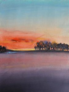 Copseat Sunset, Mixed Media by Barbara Taylor Hall (March 2012)
