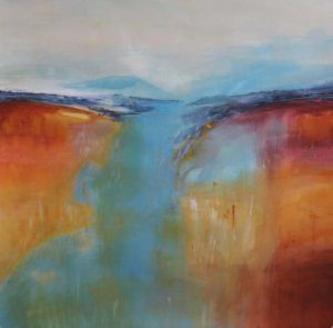 Mountain Lake, Mixed Media by Barbara Taylor Hall (June 2012)