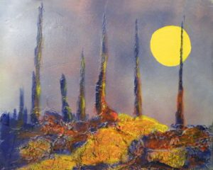 Moon Glow, Mixed Media and Acrylic by Carol Baker (June 2012)