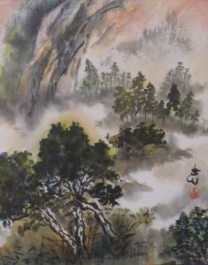 Tranquility, Sumi-e by Carol Waite (June 2012)