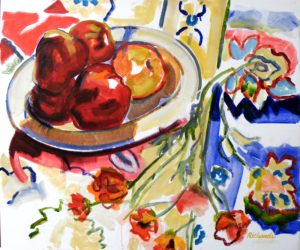 Bowl of Apples, Oil by Charlotte Richards (October 2012)