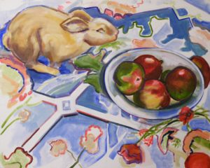 Fruits of the Field, Oil by Charlotte Richards (April 2012)