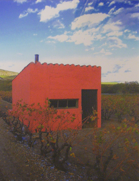 HONORABLE MENTION: Red Cabana on Vallee de l'Agly, Metallic Photograph Ltd Ed by Deborah Herndon (October 2012)