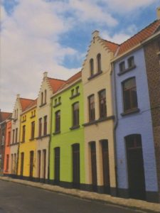 Row House Brugge, Metallic Photo Ltd Ed. by Deborah Herndon (June 2012)