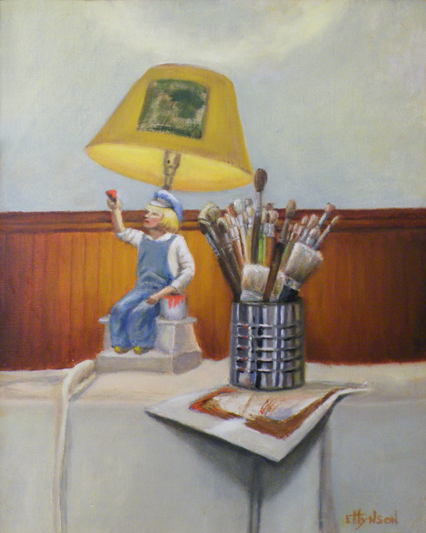 HONORABLE MENTION: Light on the Painter, Oil by Ebbie Hyson (April 2012)