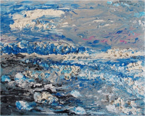 Iceberg Bay, Acrylic on Canvas by Ronald Maney, Size 24in x 30in (July 2017)