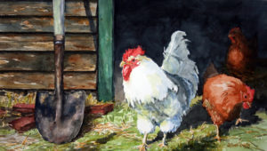 Steppin' Out, Watercolor by Jan Finn Duffy (November 2012)