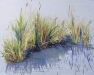 HONORABLE MENTION: Water Grass, Oil by Karen Julihn (June 2012)