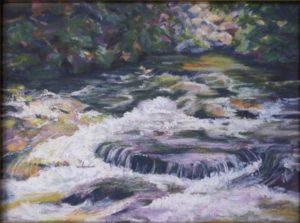 Rose River Syria VA, Pastel by Kathleen Willingham (June 2012)